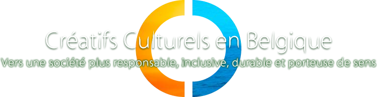 Logo et slogan des Cr�atifs Culturels en Belgique